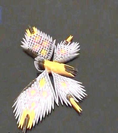 Метелик з орігамі модулів