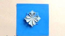 Квітка орігамі своїми руками відео