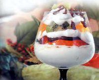 Фото - Як приготувати новорічний десерт * крижаний салат * з фруктів