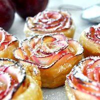 Фото - Як приготувати трояндочки з яблук і листкового тіста