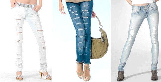 Фото - Як зробити дірки і потертості на джинсах в домашніх умовах?