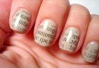 Фото - Як зробити цікавий дизайн нігтів (газетний, наприклад)