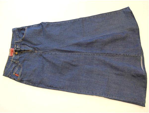 Як з джинс зробити спідницю?