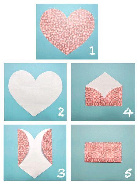 Як зробити конверт з ромба