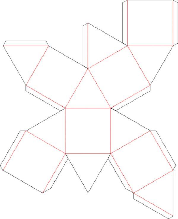 Октаедр як зробити з паперу?