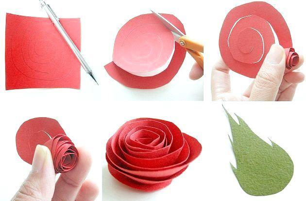 Фото - Як зробити троянду з паперу за пару хвилин?