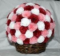 Як зробити кулю з квітів?