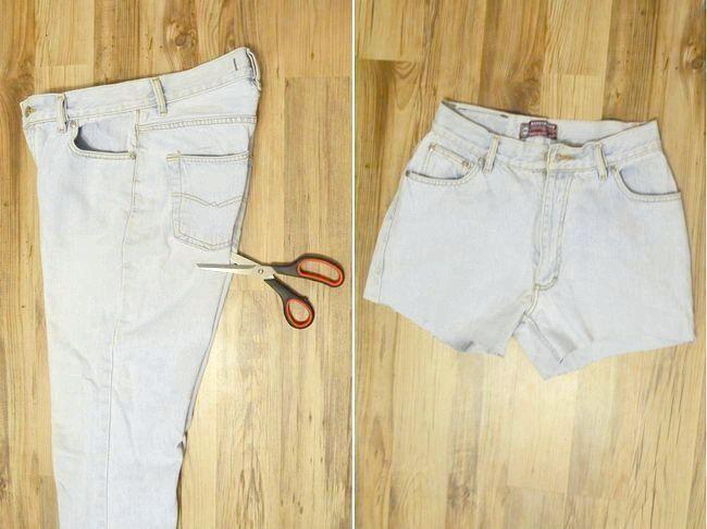 як обрізати джинси на шорти