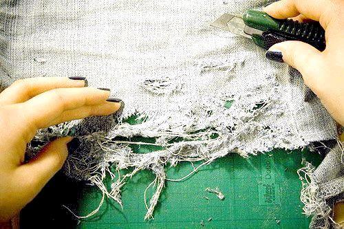 як зробити рвані шорти зі старих джинс