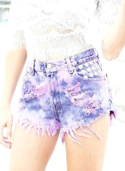 як прикрасити джинсові шорти