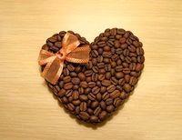 Фото - Як зробити валентинку з кавовими зернами