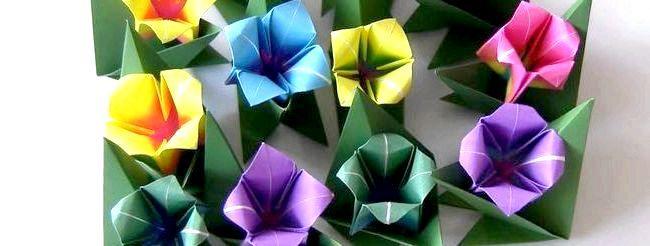 Орігамі квітка схема для початківців