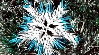 Орігамі сніжинки відео урок